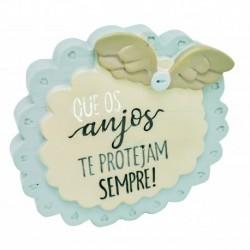 """Placa Decorativa """"Que Anjos te Protejam"""" REF. PHA 033"""