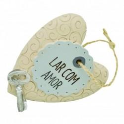 "Placa Decorativa ""Lar Com Amor"" REF. PHA 037"