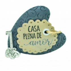 "Placa Decorativa ""Casa Plena de Amor"" REF. PHA 040"