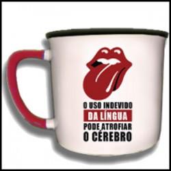 """Caneca Vintage """"Uso Indevido da Língua"""" REF. VM017"""