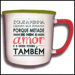"""Caneca Vintage """"Metade de Mim É..."""" REF. VM009"""