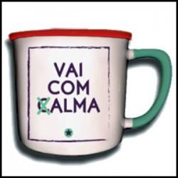 """Caneca Vintage """"Vai Com Calma"""" REF. VM008"""