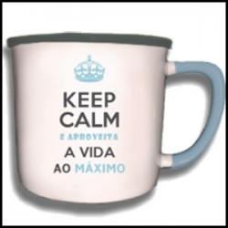 "Caneca Vintage ""Aproveita a Vida"" REF. VM002"