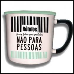 """Caneca Vintage """"Rótulos Não Para Pessoas"""" REF. VM012"""