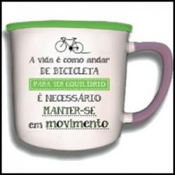 """Caneca Vintage """"Andar de Bicicleta"""" REF. VM014"""