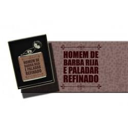 "HIP FLASK ""HOMEM DE BARBA RIJA"" .REF.THF05"