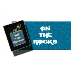"HIP FLASK ""ON THE ROCKS"" .REF.THF10"