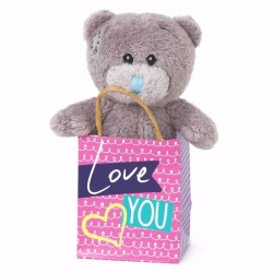 MTY PELUCHE S3 BEAR IN BAG LOVE YOU REF.G01W4133