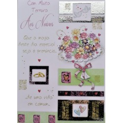 CARTOES CASAMENTO C/ENV.REF.OVER THE MOON
